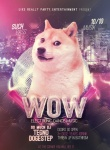amazing ambiguous_gender black_nose canine city cityscape disco disco_ball dog doge english_text feral glitter humor looking_at_viewer mammal meme nightclub poster real shiba_inu solo text unknown_artist