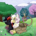 avian ember_flake equine friendship_is_magic grass gryphon hayden_redtalon horse lying mammal my_little_pony oc_only original_character outside pony smudge_proof tree   Rating: Safe  Score: 2  User: Smudge_Proof  Date: April 18, 2014