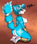 2014 anthro big_butt blue_fur blue_hair blush breasts butt canine digital_media_(artwork) drako1997 fangs female fox fur green_eyes hair hi_res kneeling krystal looking_back mammal nintendo nipples nude open_mouth pawpads paws plain_background raised_tail side_boob solo star_fox text tongue tongue_out video_games white_fur   Rating: Questionable  Score: 21  User: CLASP  Date: November 26, 2014