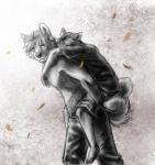 2015 abstract_background akita akita_inu anthro canine clothed clothing dog duo faraden female leaves male mammal partially_clothed ratte xhias xianè yellow_eyesRating: SafeScore: 12User: NotMeNotYouDate: September 17, 2015