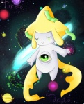 ambiguous_gender eyes_closed green_eyes jirachi legendary_pokémon nintendo pokémon space takoto video_games   Rating: Safe  Score: 1  User: Takoto  Date: October 03, 2012