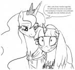 """2015 duo english_text equine female feral friendship_is_magic horn mammal my_little_pony princess_luna_(mlp) silfoe text twilight_sparkle_(mlp) winged_unicorn wings  Rating: Safe Score: 7 User: Robinebra Date: May 30, 2015"""""""