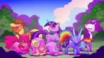 applejack_(mlp) blonde_hair blue_eyes cmaggot cutie_mark earth_pony equine female feral fluttershy_(mlp) friendship_is_magic green_eyes group hair horn horse mammal multicolored_hair my_little_pony outside pegasus pink_eyes pink_hair pinkie_pie_(mlp) pony purple_hair rainbow_dash_(mlp) rainbow_hair rarity_(mlp) sky twilight_sparkle_(mlp) unicorn wings  Rating: Safe Score: 11 User: Sods Date: February 05, 2013