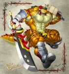 2012 abs anthro biceps big_muscles clothing fangs grin hyper hyper_muscles kuroma lizard male muscles partially_clothed pecs reptile scalie   Rating: Questionable  Score: 3  User: Watchman  Date: March 11, 2015