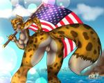 4th_of_july azaleesh beach breasts butt canine cheetah copperback01 feline female flag fox hybrid kiku leopard mammal nipples nude patriotism politics pussy sea seaside skyline smile stars_and_stripes united_states_of_america water  Rating: Explicit Score: 29 User: Azaleesh Date: June 30, 2015