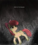 2012 apple_bloom_(mlp) bow cub dark english_text equine female feral forest friendship_is_magic hair horse john_joseco my_little_pony pony red_hair solo story_of_the_blanks text tree wood young   Rating: Safe  Score: 8  User: 2DUK  Date: February 29, 2012