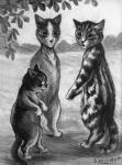 ambiguous_gender biped cat digitigrade eyewear feline greyscale group leaf license_info louis_wain low_res mammal monochrome monocle nude outside public_domain semi-anthro signature size_difference standing traditional_media_(artwork) whiskers  Rating: Safe Score: 1 User: purple.beastie Date: October 08, 2015
