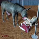 3d animal_genitalia balls barn bestiality blonde_hair breasts butt cowgirl cunnilingus donkey equine female feral hair horsecock human interspecies long_hair male mammal nude oral oral_sex penis pole sex spurs straight tongue vaesark vaginal   Rating: Explicit  Score: 3  User: lilicalover  Date: April 11, 2014