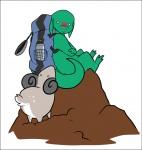 "2011 anthro backpack caprine chibi cute green_body leelee lizard looking_at_viewer male mammal plain_background reptile scalie sheep stripes toki_(character) white_background  Rating: Safe Score: 1 User: toki Date: February 23, 2012"""