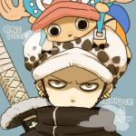 backpack black_hair cervine deer duo english_text hair hat horn human male mammal melee_weapon one_piece short_hair sword text tony_tony_chopper trafalgar_law weapon  Rating: Safe Score: 8 User: Cαnε751 Date: November 17, 2015