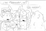 2015 anthro black_and_white breasts buckteeth colliefleur dialogue elpatrixf english_text female flammin'go french_text furfrou group hat human male mammal marissa monochrome nintendo open_mouth pansear pokémon pokémon_trainer pokémorph quilladin simple_background text video_games white_background  Rating: Safe Score: 0 User: Lance_Armstrong Date: July 26, 2015