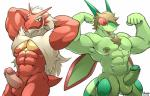 abs anthro anthrofied areola armpits arthropod avian balls beak beard biceps big_muscles bird blaziken chicken duo erection facial_hair flexing flygon green_nipples green_skin hair hands_behind_head humanoid_penis insect looking_at_viewer maldu male manly muscular navel nintendo nipple_piercing nipples nude pecs penis piercing pokémon pokémorph raised_arm red_skin smile standing thick_penis thick_thighs video_games  Rating: Explicit Score: 14 User: daYze Date: April 08, 2016