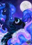2015 anus blue_eyes blue_fur blue_hair butt clothing cloud cutie_mark equine female friendship_is_magic fur hair half-closed_eyes horn legwear long_hair mammal moon my_little_pony on_cloud outside princess_luna_(mlp) pussy pussy_juice rainbowscreen smile socks solo striped_legwear stripes winged_unicorn wings  Rating: Explicit Score: 69 User: lemongrab Date: January 16, 2015