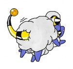 ambiguous_gender balls caprine duo feral from_behind male mammal mareep nintendo pokémon sex sheep simple_background video_games white_background  Rating: Explicit Score: 2 User: MiblicTheMany Date: July 17, 2012