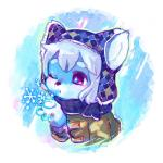 ambiguous_gender blue_fur canine dog fur kemono mammal red_eyes scarf solo winter マボ   Rating: Safe  Score: 1  User: KemonoLover96  Date: May 29, 2015