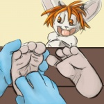 4_toes anthro bdsm bigbang bondage bound caprine duo feet foot_fetish foot_focus goat hindpaw laugh male mammal open_mouth paws reallyreallybigbang simple_background soles stocks tickling toes  Rating: Safe Score: 0 User: bigbang Date: October 15, 2015