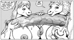anthro areola ball_fondling balls big_breasts big_penis breasts dialogue english_text equine erect_nipples erection female fondling hair handjob horse huge_breasts hyper hyper_penis karno male mammal monochrome nipples penis precum sibling sisters text  Rating: Explicit Score: 4 User: Robinebra Date: August 05, 2012