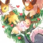 <3 aruberutoo canine eevee eeveelution flareon fox group jolteon mammal nintendo pokémon vaporeon video_games  Rating: Safe Score: 5 User: Evoli-Eevee Date: September 27, 2015