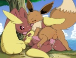 anal anal_penetration anus balls brown_fur butt cloud cum cum_in_ass cum_inside cum_while_penetrated digitigrade duo eevee erection eyes_closed feral fur girly hands-free hindpaw interspecies knot lopunny lying male male/male nintendo nude on_back open_mouth orgasm outside paws penetration penis pokémon raised_tail red_eyes sex size_difference sky spread_legs spreading tapering_penis tree tricksta video_games wood   Rating: Explicit  Score: 29  User: slyroon  Date: March 06, 2013