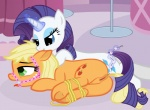 anal anal_beads anal_insertion anal_penetration anus applejack_(mlp) bdsm bound cutie_mark duo earth_pony equine eyeshadow female female/female feral friendship_is_magic fur gag horn horse insertion makeup mammal my_little_pony open_mouth orange_fur penetration pony pussy rarity_(mlp) rope sex_toy tongue unicorn white_fur  Rating: Explicit Score: 14 User: masterwave Date: April 23, 2013