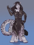 angrboda blue_eyes breasts chakat feline female goo leopard mammal nipples rubber shiny simple_background snow_leopard solo taur transformation  Rating: Questionable Score: 6 User: Arkham_Horror Date: May 25, 2014""