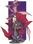 armpits balls claws dancing feral looking_at_viewer male mammal misericorde mustelid nintendo penis pokémon pole pole_dancing ribbons solo video_games weasel weavile  Rating: Explicit Score: 3 User: Xuxell Date: July 26, 2016