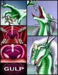 2003 anthro armor claws clothed clothing comic dialogue dragon duo ear_piercing english_text eyes_closed facial_piercing female green_scales hair holding horn human internal jewelry licking licking_lips looking_at_viewer male mammal markie open_mouth orange_eyes piercing purple_hair saliva scalie seductive size_difference slit_pupils swallowing teeth text tongue tongue_out vore   Rating: Questionable  Score: 0  User: GameManiac  Date: April 09, 2015