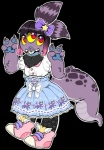 """anthro bearnapping bow clothed clothing footwear frilly fur hair lolita_(fashion) mammal neck_tuft neopets paws rodent shoes solo squirrel tuft usul v_sign  Rating: Safe Score: 3 User: AnonymousNeopian Date: March 30, 2015"""""""