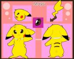 brown_eyes collar cute female fluffy fur mayu_(tartii) model_sheet nintendo open_mouth pikachu pokémon smile solo tartii tuft video_games   Rating: Safe  Score: 0  User: LightRain  Date: October 12, 2014