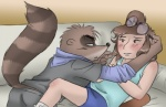 anthro blush cartoon_network couple darkpenguin duo eileen eyewear female glasses interspecies male male/female mammal raccoon regular_show rigby_(regular_show)   Rating: Safe  Score: 9  User: Hardstyle_Chris  Date: March 29, 2013