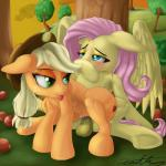 2014 absurd_res apple applejack_(mlp) balls blonde_hair blush cowboy_hat cutie_mark dickgirl dickgirl/female duo earth_pony equine female feral fluttershy_(mlp) freckles friendship_is_magic fruit fur green_eyes hair hat hi_res hooves horse intersex intersex/female long_hair lying mammal my_little_pony on_back orange_fur outside pegasus penetration penis pink_hair pony pussy resting sex spread_legs spreading tongue tongue_out tree vaginal vaginal_penetration wings xanthor yellow_fur   Rating: Explicit  Score: 28  User: lemongrab  Date: September 25, 2014
