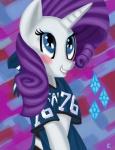 absurd_res blue_eyes blush cute equine fauxsquared female friendship_is_magic gem hair hi_res horn mammal my_little_pony purple_hair rarity_(mlp) smile solo unicorn   Rating: Safe  Score: 4  User: Robinebra  Date: September 30, 2012