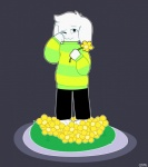 asriel_dreemurr caprine clothing cute flower goat grass male mammal pants plant qtipps simple_background solo standing sweater undertale video_games young  Rating: Safe Score: 2 User: Burgerpants Date: November 25, 2015
