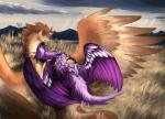 """2015 ambiguous_gender arith avian beak bird cloud collar cuddling cute dragon duo erection feathered_wings feathers feral fluff fur grass gryphon male mountain nahyon nahyon_(character) penis prehensile_penis scarf sky talons wings  Rating: Explicit Score: 15 User: LevitasDarkwing Date: June 22, 2015"""""""