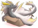 4:3 amatsumagatsuchi ambiguous_gender box canes-cm capcom dragon elder_dragon feral in_box in_container monster_hunter simple_background solo video_games white_background
