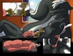 anthro brown_eyes cock_vore cum duo green_eyes grin male male/male mammal mouse murkshadow orgasm penis rodent skunk smile urethral vore  Rating: Explicit Score: 7 User: Scheknul Date: July 13, 2015
