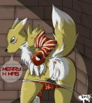 alley anthro anus bandai bent_over butt christmas clothing digimon english_text female gloves hi_res holidays looking_at_viewer looking_back outside panties panties_down presenting presenting_hindquarters pussy pussy_juice pussy_juice_string raised_tail rear_view redfoxsoul renamon signature solo standing striped_panties talking_to_viewer text underwear undressing wet wet_panties   Rating: Explicit  Score: 35  User: Circeus  Date: December 16, 2014