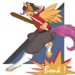 2013 anthro anthrofied arnachy baseball_bat clothing crossover digital_media_(artwork) equine equine_legs feathered_wings feathers female friendship_is_magic fur hair hi_res mammal my_little_pony orange_feathers orange_fur pegasus purple_eyes purple_hair reliable_excavation_demolition scootaloo_(mlp) scout_(team_fortress_2) solo team_fortress_2 valve video_games wings