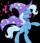 2015 animated black_background blue_hair cape clothing cutie_mark equine equum_amici eyes_closed female fireworks friendship_is_magic hair hat horn mammal multicolored_hair my_little_pony open_mouth simple_background solo spier17 star trixie_(mlp) two_tone_hair unicorn wizard_hat  Rating: Safe Score: 4 User: ConsciousDonkey Date: February 10, 2016