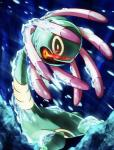 cold cradily echinoderm feral fire ice marine nintendo plant pokémon pokémon_(species) red_eyes sea_lily solo toward video_games
