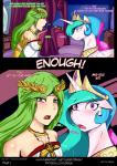 2015 bed blush clothed clothing comic dialogue dragk duo english_text equine female feral friendship_is_magic green_eyes green_hair hair hi_res horn human inside kid_icarus long_hair looking_at_viewer mammal multicolored_hair my_little_pony nintendo open_mouth palutena princess_celestia_(mlp) text video_games winged_unicorn wings  Rating: Safe Score: 6 User: lemongrab Date: October 09, 2015