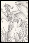 2015 ambiguous_gender claws dragon horn pencil_(artwork) pose reeds rukis scalie shaded solo traditional_media_(artwork) wings  Rating: Safe Score: 4 User: TheGreatWolfgang Date: January 14, 2015""