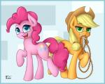 2015 applejack_(mlp) earth_pony equine female friendship_is_magic fur hat horse mammal my_little_pony pinkie_pie_(mlp) pony rope smile teeth thunder_chaser tongue   Rating: Safe  Score: 5  User: Thunder_Chaser  Date: February 20, 2015