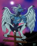 anthro avian bird breasts demon devil_lady devilman feathers female harpy harpy_(character) masturbation monster pole pussy solo swift_(artist)  Rating: Explicit Score: 3 User: SwiftNimblefoot Date: June 03, 2015