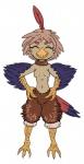 anthro avian beak bird breasts cute eyes_closed feathers female harpy punishedkom smile solo talonsRating: SafeScore: 0User: PunishedKomDate: April 24, 2017