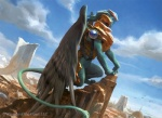 ambiguous_gender armor city cityscape dutch_angle feathered_wings feline feral magic_the_gathering mammal official_art quadruped side_view solo sphinx step_pose wesley_burt wings   Rating: Safe  Score: 0  User: Circeus  Date: February 04, 2015