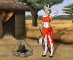 2015 absurd_res anthro anthrofied blue_eyes cauldron collaboration equine fairdahlia female fire friendship_is_magic gold_(metal) hi_res hut mammal melee_weapon my_little_pony mykegreywolf navel neck_rings piercing polearm solo spear stripes weapon zebra zecora_(mlp)  Rating: Safe Score: 13 User: 2DUK Date: October 24, 2015
