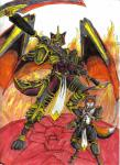 android anthro armored canine demon dragon duo fire fox hero hybrid machine male mammal mecha mechanical nyghtmar3 robot scalie scythe shadow_fang warrior   Rating: Safe  Score: -1  User: Nyghtmar3  Date: March 20, 2015
