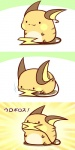:3 chibi comic female fur mouse mouth_hold nintendo open_mouth orange_fur pokémon raichu rairai-no26-chu rodent sitting smile video_games   Rating: Safe  Score: 20  User: AnacondaRifle  Date: October 02, 2013