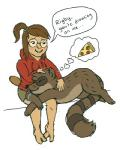 brown_fur cartoon_network clothing couple dialogue drooling duo eileen english_text eyewear female food fur glasses hoodie low_res lowlysquid male mammal mole pizza raccoon regular_show rigby_(regular_show) saliva sleeping speech_bubble text thought_bubble  Rating: Safe Score: 2 User: Yeasty Date: December 30, 2015